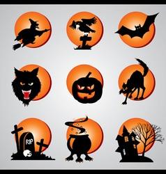Icons halloween vector