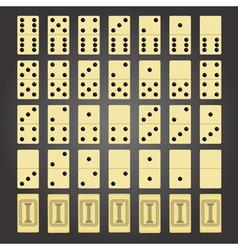 Domino game vector