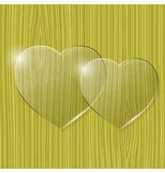 Glass hearts vector
