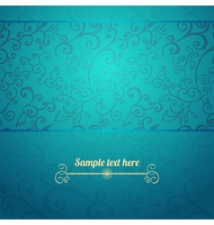 Excellent seamless floral pattern blue background vector