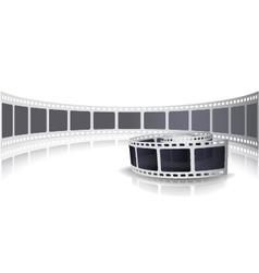 Camera film roll set background vector