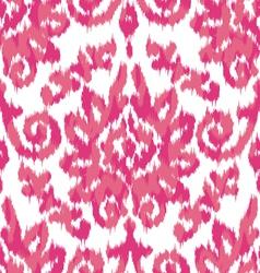 Pink ikat damask vector