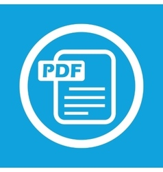 Pdf file sign icon vector
