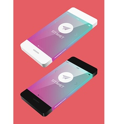 Template phone in flat style vector