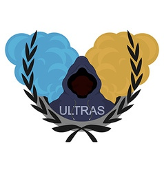 Ultras logoblue yellow vector
