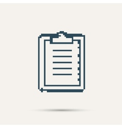 Simple pixel icon paper holder design vector