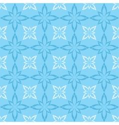 Seamless blue and white pattern with figures vector