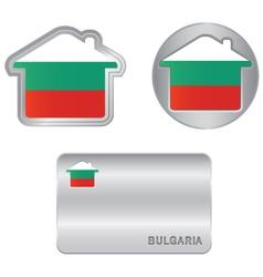 Home icon on the bulgarian flag vector