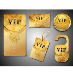 Vip cards design template vector