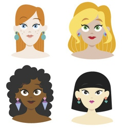 Beauty girls vector