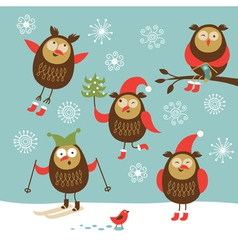 Set of different owls character vector