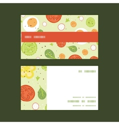 Fresh salad horizontal stripe frame pattern vector