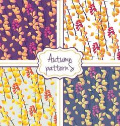 Seamless autumn pattern set vector