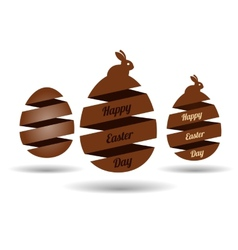 Easter egg banners vector