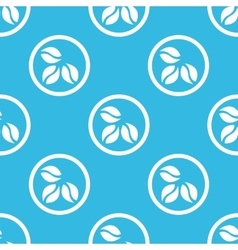 Coffee sign blue pattern vector