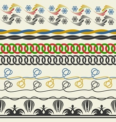 Seamless decorative elements vector