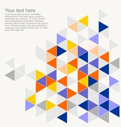 Geometric mosaic triangle card document template vector