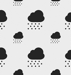 Snowing icon sign seamless pattern with geometric vector