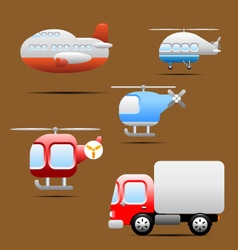 Transports icons vector