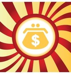 Dollar purse abstract icon vector
