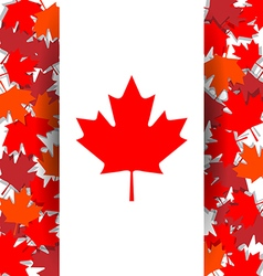 Maple leaf background for celebrate the national vector
