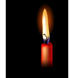 Realistic red candle isolated vector