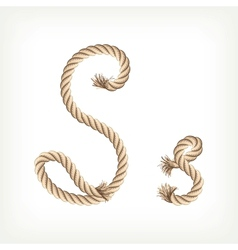 Rope alphabet letter s vector