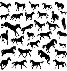 Horses set vector