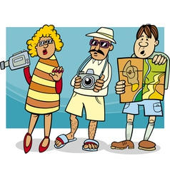 Tourist group cartoon vector