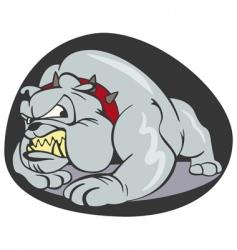 Bulldog cartoon vector