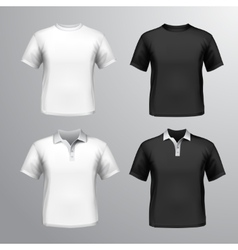 T-shirts male set vector