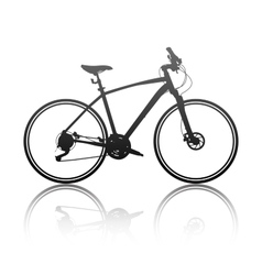 Silhouette of a hybrid bike vector