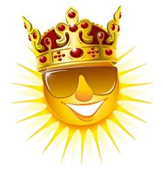 Sun in a golden crown vector