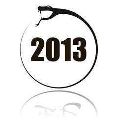 2013 snake round vector