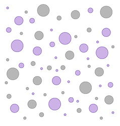 Polka dot pink and grey pattern vector