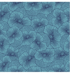 Seamless blue pansy pattern vector