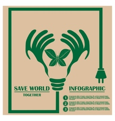 Ecology concept with design vector