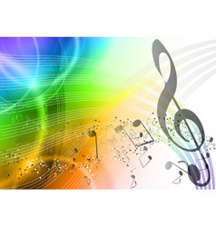 Rainbow music vector