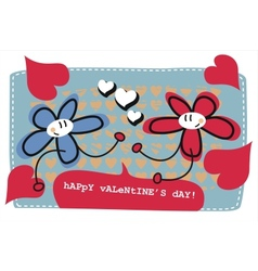 Valentines day doodle card vector