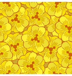 Abstract yellow flowers seamless pattern vector