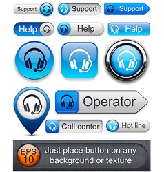 Support high-detailed modern buttons vector