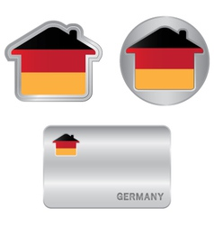Home icon on the germany flag vector
