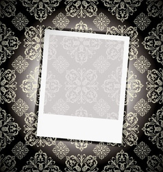 Floral wallpaper instant photograph vector