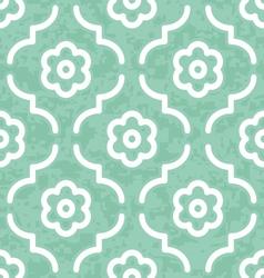 Jade emerald moroccan flowers vector