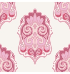 Damask seamless pattern pink vector