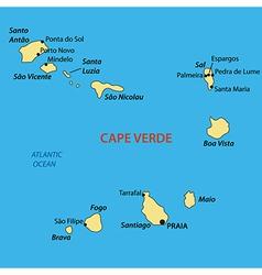 Republic of cabo verde - map vector
