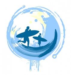 Surfers vector