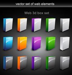 Web boxes vector