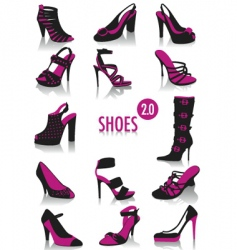 Shoes silhouettes vector