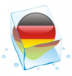 Frozen button flag of germany vector